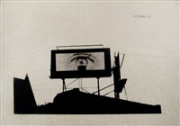 eye on billboard by arnold mesches