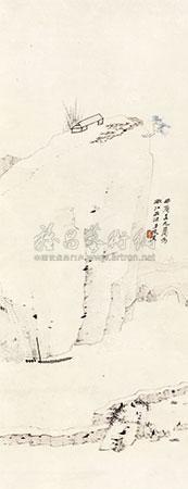 仿渐江山水 landscape by zhang daqian