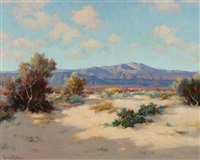 edge of the desert by henry leopold richter