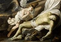 le christ mort veillé par un ange by french school (17)