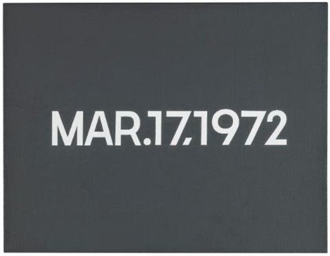 mar17 1972 by on kawara