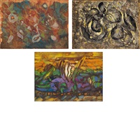primeval marks; solstice series; cryptic images (3 works) by charles seliger
