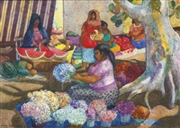 oaxaca market by millard sheets