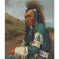 portrait of a seated warrior by henry metzger