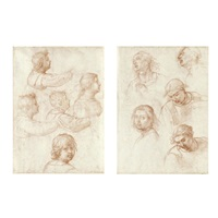heads - study (recto/verso) by fra bartolommeo