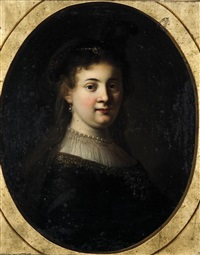portrait présumé de saskia by jean-baptiste santerre