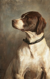 english pointer by george percy r. e. jacomb-hood
