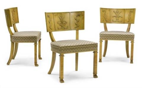 suite de 3 chaises (model caesar)(set of 3) by axel einar hjorth