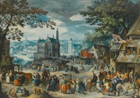 the kermesse of the feast of st. george by david vinckboons
