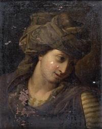 jeune femme au turban by antoine rivalz
