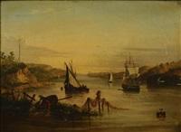 river scene by andrew andrews