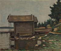 storehouses by väinö kamppuri