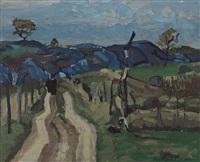 landscape blue by stuart davis