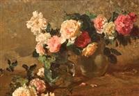rose in un vaso su un piano by paolo vetri
