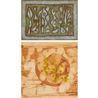 earthscape; winter sleep, spring seedlings (2 works) by charles seliger