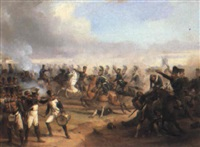 battle scene by edmund friedrich rabe