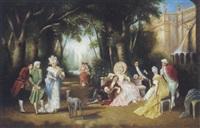 lustige gartengesellschaft by françois dupin