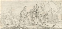 a scene from roman history: a general receiving the surrender of another's sword by giovanni battista tiepolo
