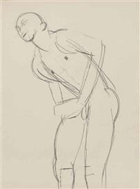 bending figure by keith vaughan