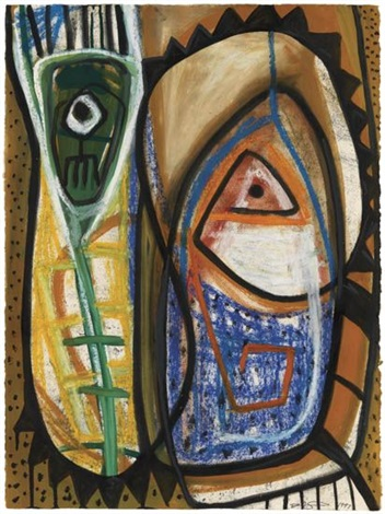 untitled abstract composition by danny simmons