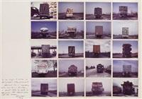 700 km di esposizione modena graz (16 works) by franco vaccari