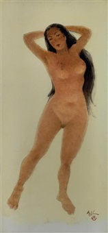 female nude by lee man fong