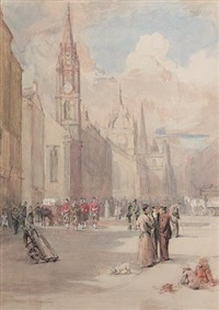 the royal mile, edinburgh by robert c. abercromby