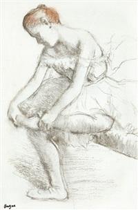 danseuse assise by edgar degas