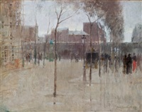 avenue du maine, paris by paul cornoyer