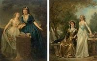les deux amies (+les deux soeurs, various sizes; pair) by marguerite gérard