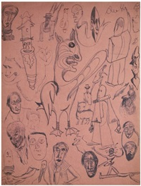 compositions en dessin automatique (recto/verso) by tristan tzara