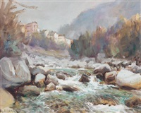 le torrent aux truites, vallée piémontaise by angelo abrate