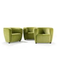 armchairs (set of 3) by jindrich halabala