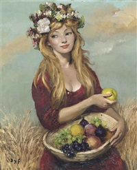 claudine aux fruits by marcel dyf