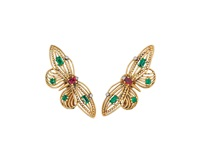 butterfly earclips (pair) by cartier