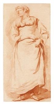 a standing woman by gerrit adriaensz berckheyde