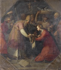 the presentation in the temple by giovanni andrea ansaldo