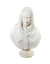 bust of an old woman by william brodie