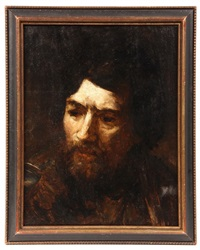 portrait of a bearded man by frank duveneck