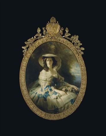 daprès le portrait de limpératrice eugénie by franz xaver winterhalter