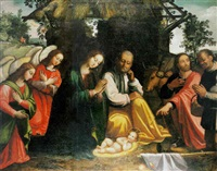 la adoración de los angeles y de los pastores by juan (fray) sanchez y cotan