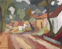 kellergasse bei tresdorf (bei kreuzenstein) by josef maria svoboda