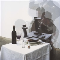 waiter waiter there's a george vantongerloo in my brown windsor by bruce mclean