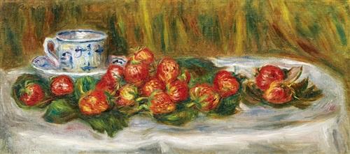 nature morte aux fraises by pierre auguste renoir