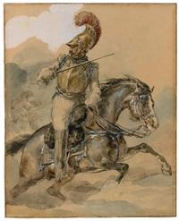 carabinier à cheval chargeant by théodore géricault