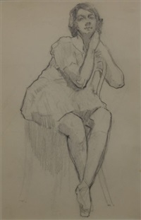 double sided drawing by george lambert