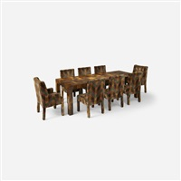 cityscape dining table by paul evans