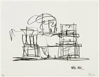 study for new frank gehry house by frank gehry
