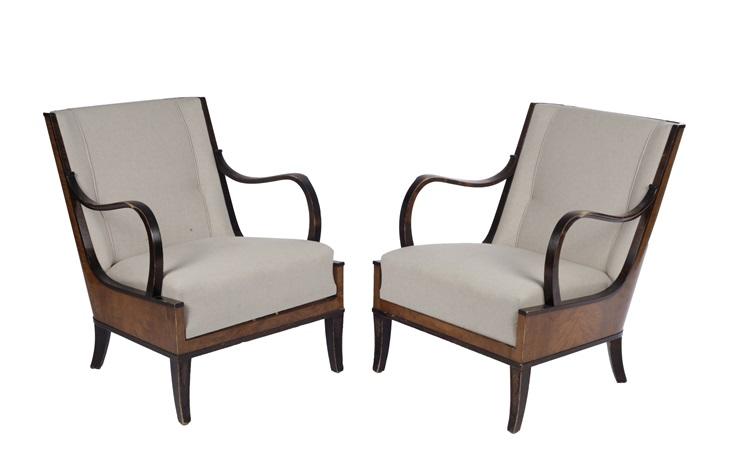 A pair of art deco lounge chairs von erik chambert auf artnet
