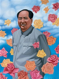 mao zedong-hundreds of flowers no. 1 by ren rong